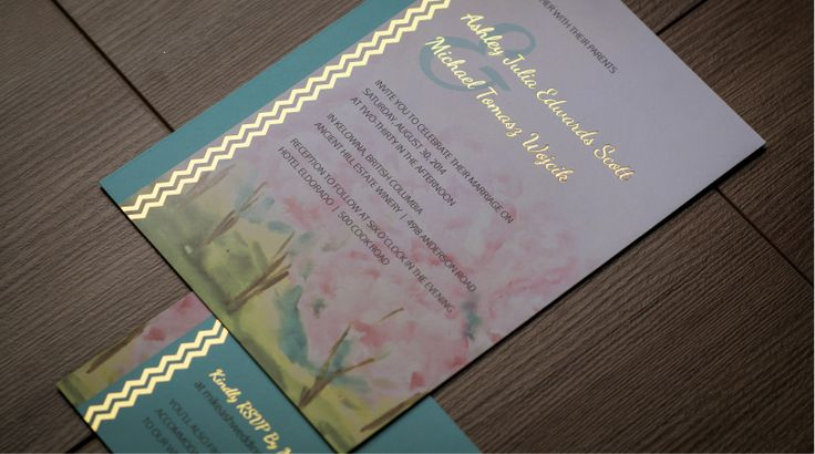 WEDDING INVITATION AND RSVP CARD > PRINT DESIGN | Graphic Design by Kelly Skinner of Friday Design + Photography.