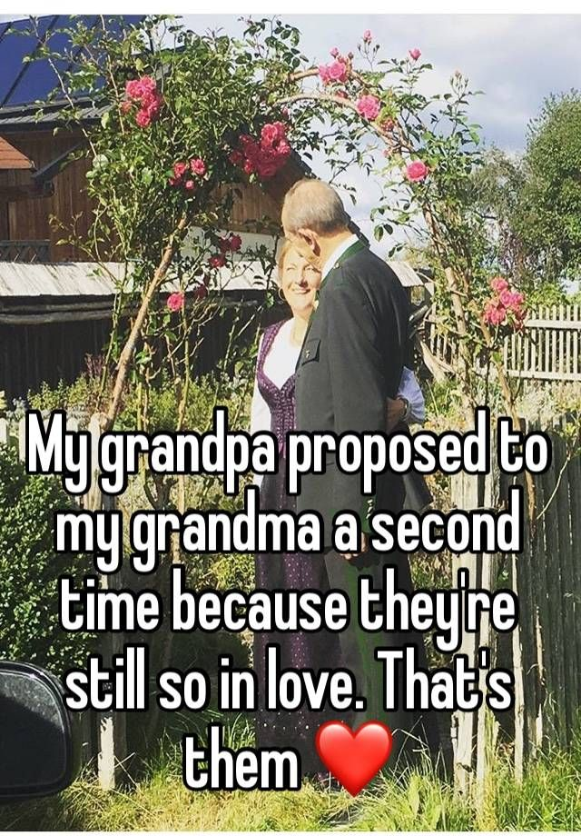 """"""" My grandpa proposed to my grandma a second time because they're still so in love. That's them ❤"""""""