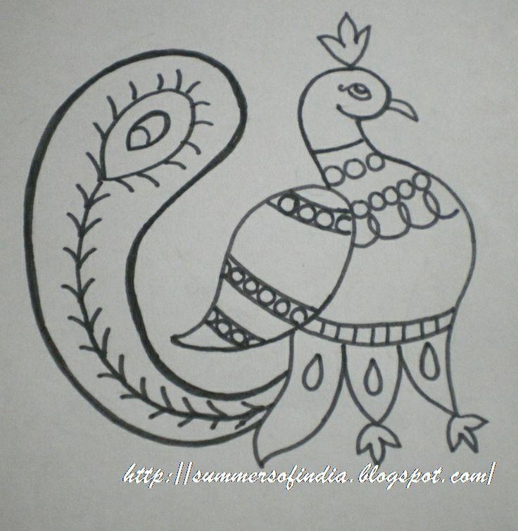 peacock from Kalamkari Motifs