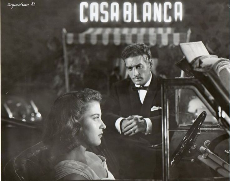 """Maricruz Olivier y Jorge Mistral en """"Orquídeas para mi esposa"""" (Director Alfredo B. Crevenna, 1953)."""