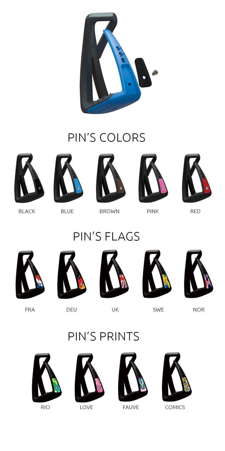 SOFT'UP LITE Customisation: the PIN'S