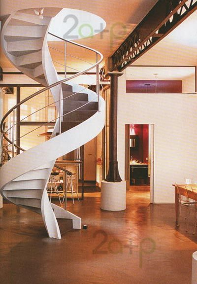 139 best escaleras images on pinterest banisters - Escaleras de hierro interior ...