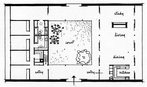 Eliot Noyes, Eliot Noyes House, Plan, New Canaan, Connecticut, 1957