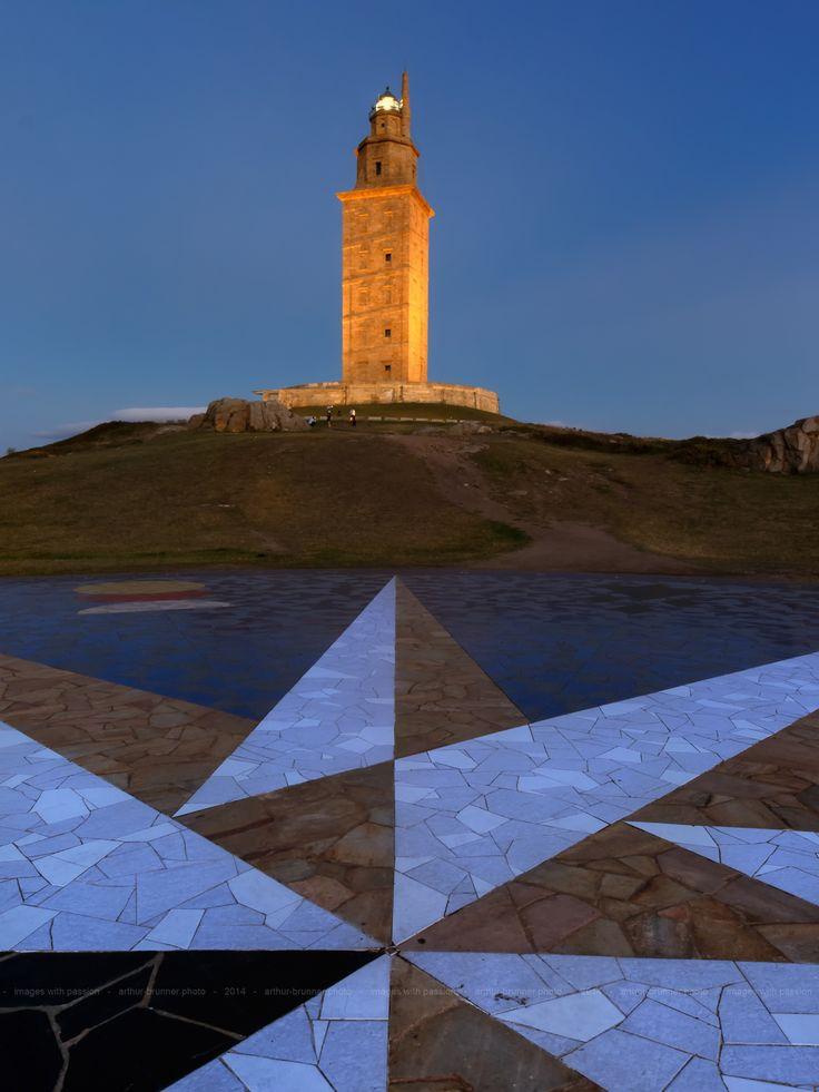 Kompassrose & Herculesturm, A Coruna #Spain