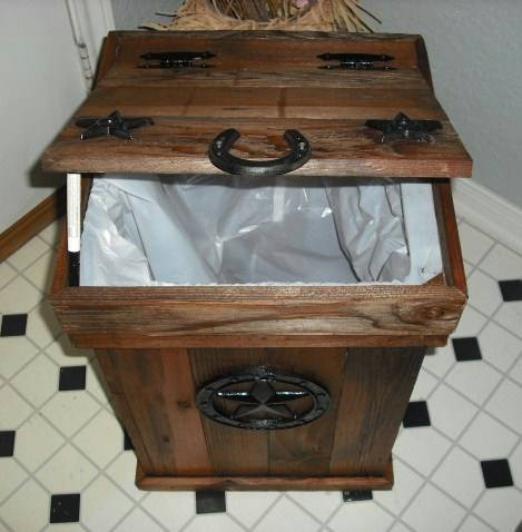 Rustic Trash Can Love This Idea To Hide The Kitchen Bin