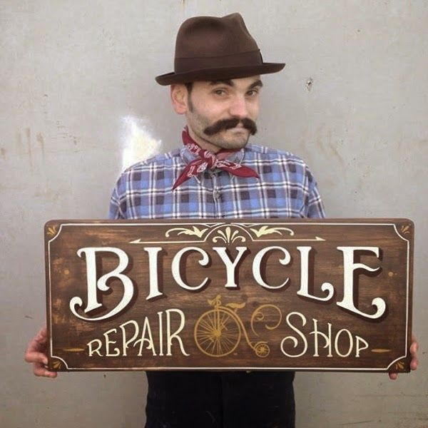 Tj Pinstriping: Bicycle Repair shop sign