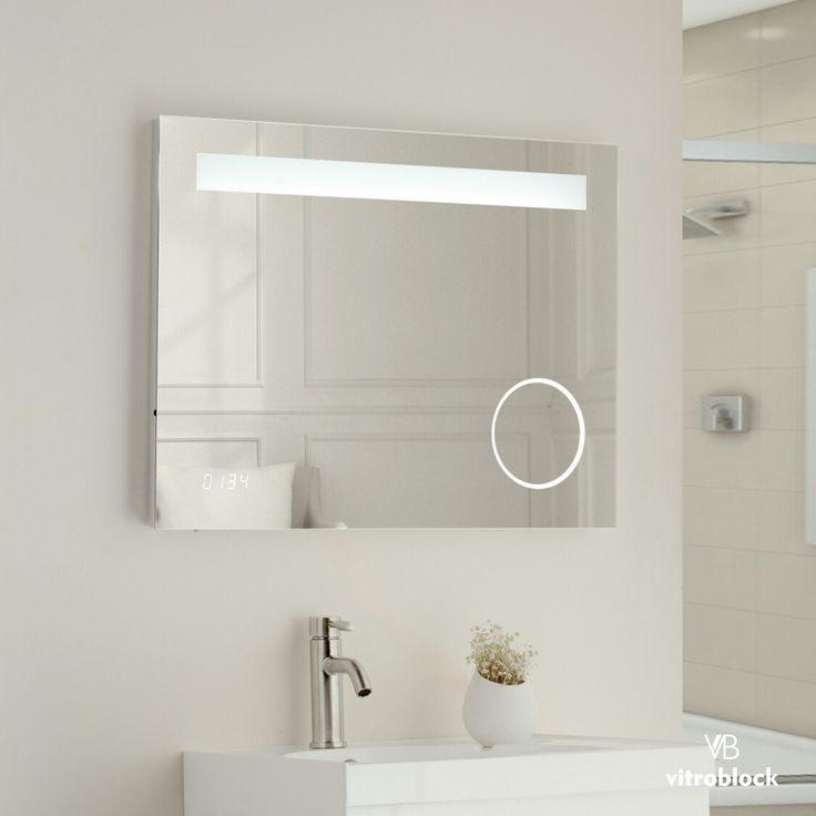 ESPEJO LED ALPHA Iluminación Led | Desempañador | Timer | Zoom . Medidas disponibles: 🔸70 x 50 x 4,5 cm. 🔸80 x 60 x4,5 cm. . . #Vitroblock #Espejos #EspejosLed #Led #Decoración #Decohogar #Toilette #Baños