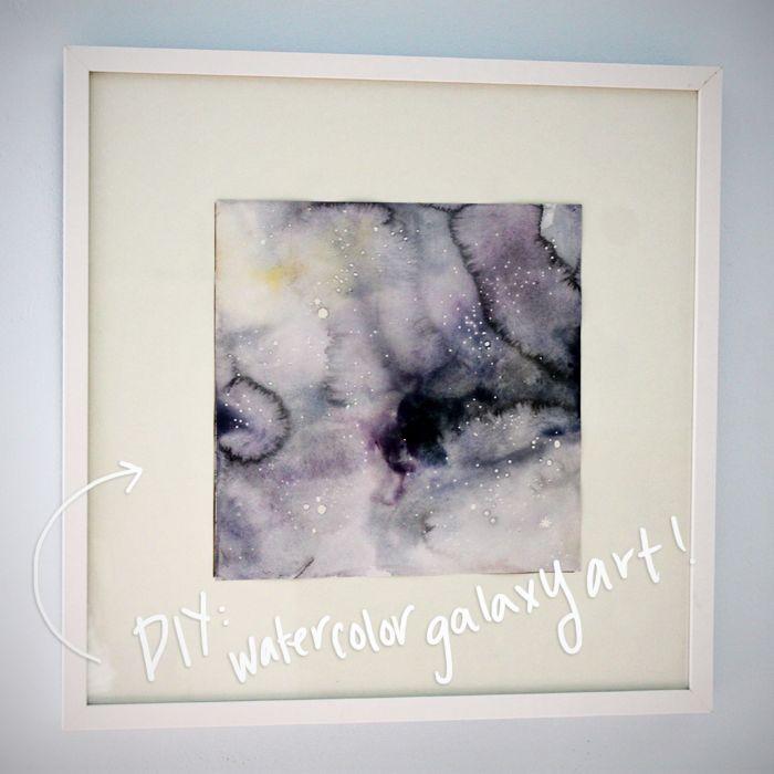 DIY:  watercolor Galaxy art!