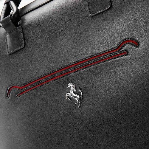 LaFerrari 48-hour bag #ferrari #ferraristore #laferrari #48hourbag #bag #men #him #limitededition #maranello #performance #innovation #style #ss2014 #springsummer2014 #madeinitaly #black #leather #cavallinorampante #prancinghorse #handmade
