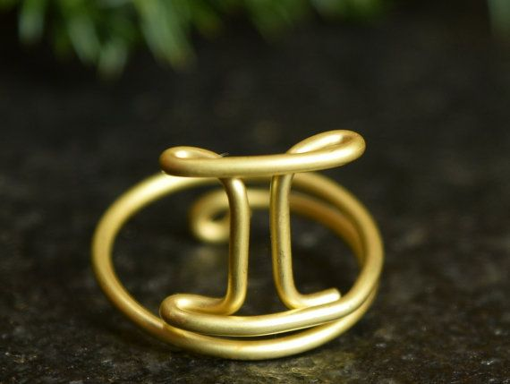 #GeminiRing, #HandmadeRing, #Zodiac Jewelry, Midi Knuckle #Rings
