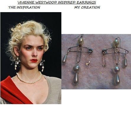 Vivienne Westwood Inspired Earrings