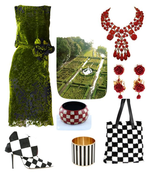 """""""Garden Maze Outfit"""" by miwemporium92 on Polyvore featuring Manolo Blahnik, Dolce&Gabbana, Carlo Zini, Givenchy and Current Mood"""