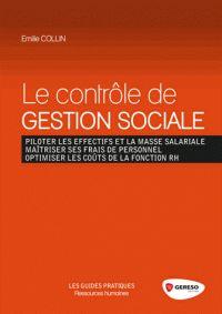 Emilie Collin - Le contrôle de gestion sociale. - Agrandir l'image