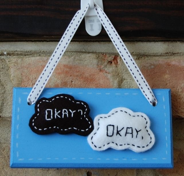 Handmade 'The Fault in our Stars' 'TFIOS' inspired 'Okay? Okay.' Sign  £7.99
