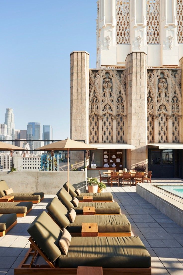 Today, LA's hip kids sun themselves by the hotel's rooftop pool, which overlooks DTLA. #Jetsetter Ace Hotel Downtown LA (Los Angeles, California)