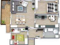 Einrichtungsplanung: Wohnzimmer online einrichten