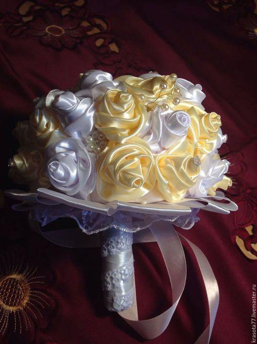 Свадебные цветы ручной работы. Ярмарка Мастеров - ручная работа. Купить свадебный букет дублер, брошь букет для невесты. Handmade.