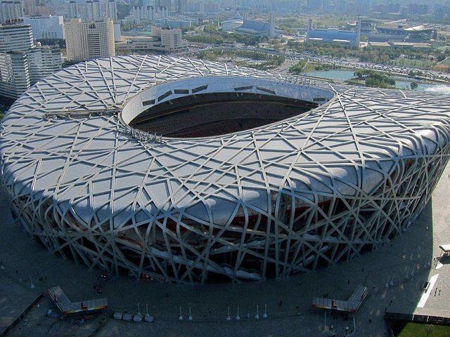Beijing Olympic Stadium Aerial