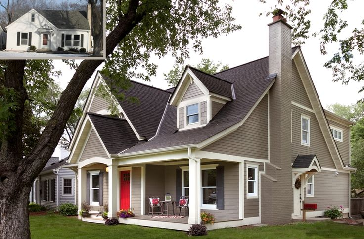 Red Brick House With Gray Shutters