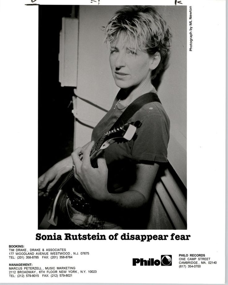 RARE Original Press Photo of Sonia Rutstein of disappear fear an Indie Pop Band