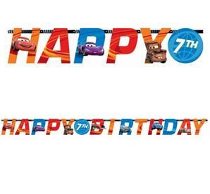 A129593 - Disney Cars Banner Letter Add An Age  Please note: approx. 14 day delivery time www.facebook.com/popitinaboxbusiness