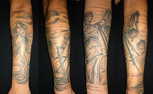 Lady justice tattoo sleeve google search tats for Metallica sleeve tattoo