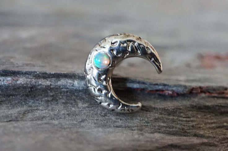 Moon Opal Tragus Cartilage Earring