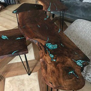 Coffee table, resin, SOLD OUT, live edgewood, resin river, live edge wood and resin, resin river, ha