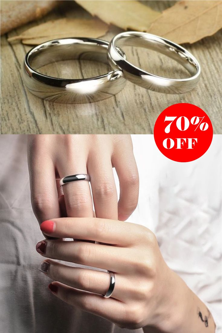 White Thin Tungsten Polished Classic Wedding Bands This Classic
