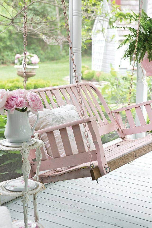 shabby chic garden the cottage journal - Garden Furniture Shabby Chic