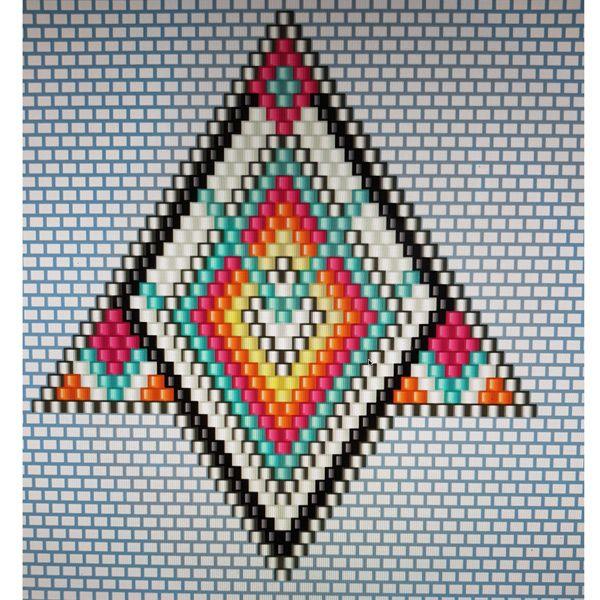 diagramme Parure tissage brick stitch en perle miyuki style amérindien