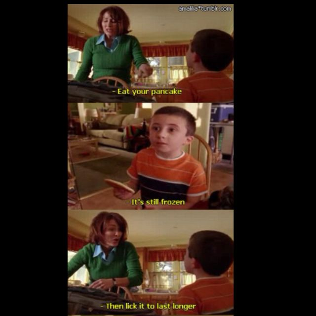 How most mornings go. Haha #themiddle #lovetheshow #loveit