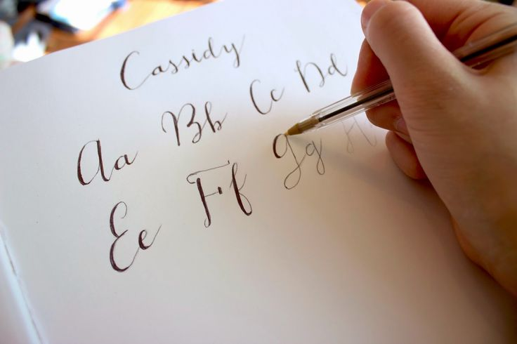 1000 images about calligraphy on pinterest Easy calligraphy pen