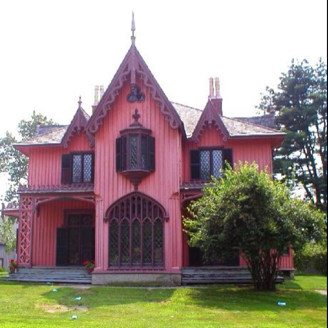 254 best images about painted ladies on pinterest queen for Gothic revival house plans