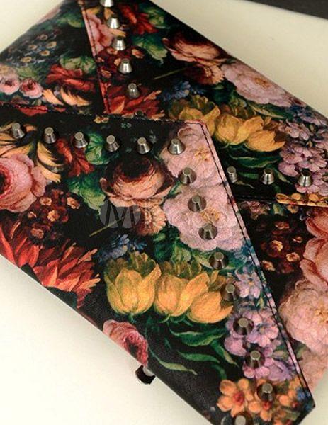 Pretty Multi Color Patent PU Leather Clutch Bag For Woman - Milanoo.com