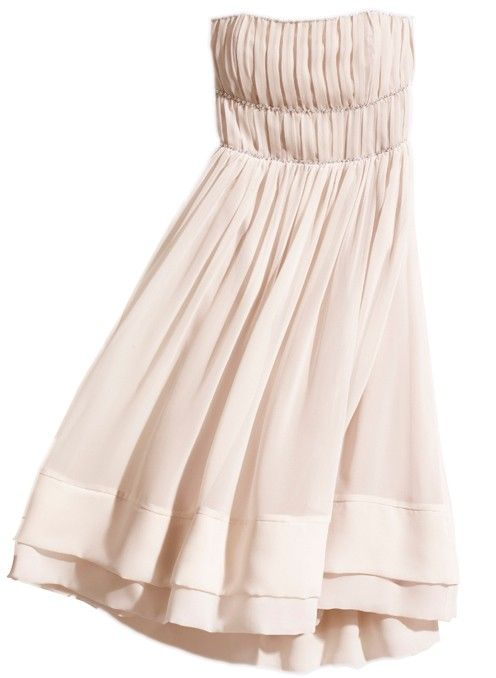 Blush Strapless Dress with Beading; Conscious Collection by H&M, US size 10; Excellent Used Condition; $35 shipped