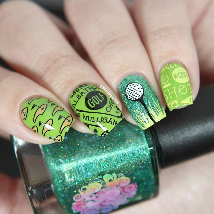 37 Best Nail Art Images On Pinterest Golf Stuff And