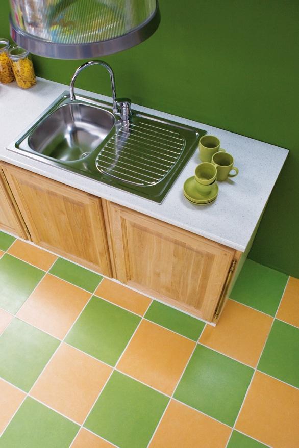 Un cucinotto verde! Perché no? :)