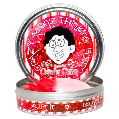 Limited Edition Christmas Candy Cane Thinking Putty is the sweetest color changing putty yet!Part of a 4 Tin Set of limited edition holiday Christmas colors. #stockingstuffer #gift #putty #toys