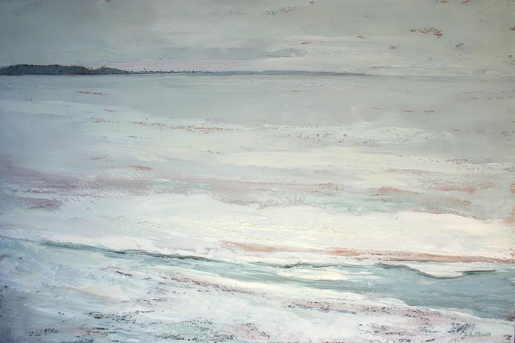 "Sue Miller, Frigid Silence, oil on canvas, 24"" x 36"", $1400.00"