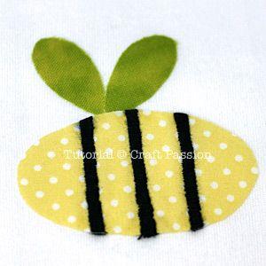 Bumble Bee Applique - AllFreeCrochet.com - Free Crochet