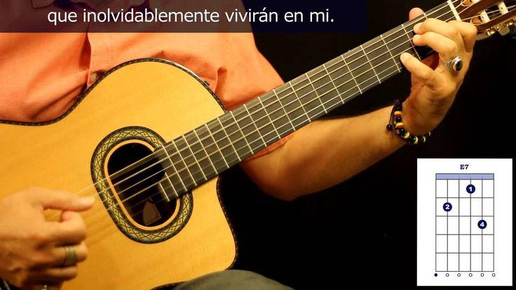 """Cómo tocar """"Inolvidable"""" en guitarra, de Julio Gutiérrez / How to play """"..."""