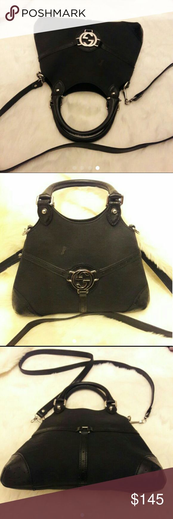 Gucci Interlock GG Mini 2way bag Authentic! In Pre-Owned Good Condition !! Has small spot in the very front just needs to be cleaning nothing major.  Very Cute! Mini/ Small Size Bag. Gucci Bags Crossbody Bags