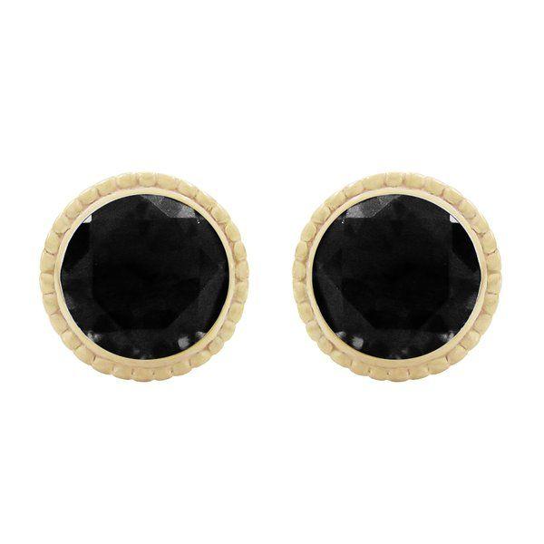 BLACK DIAMOND TESSA EARRINGS IN YELLOW GOLD   Penwarden Fine Jewellery - Jewelry - Jewelers Toronto Ontario GTA