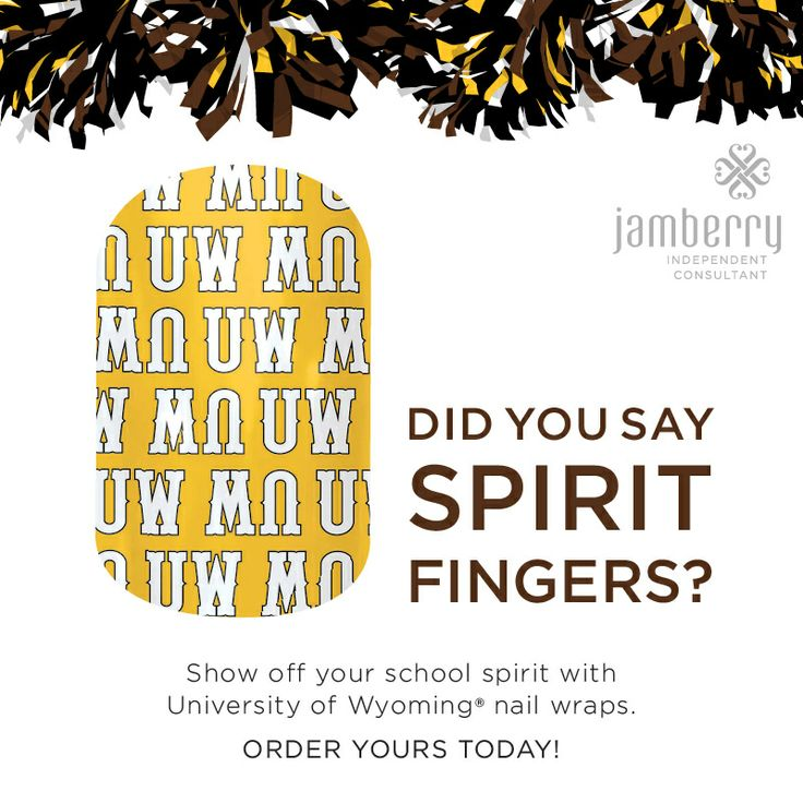 Licensed nail art to show off you school spirit! #basketball #marchmadness #football University of Wyoming Cowboy Joe IV Go Cowboys! http://www.marissacovalt.jamberrynails.net/category/collegiate