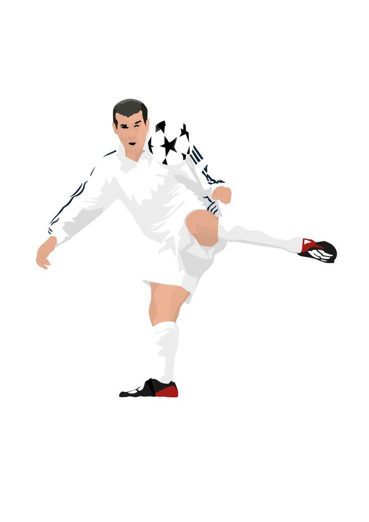 Zinedine Zidane A3 cartel: 297mmx420mm Zizou por EntireDesign