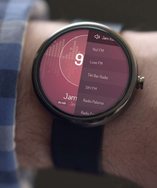 Android Wear FM Radio UI Concept on Behance