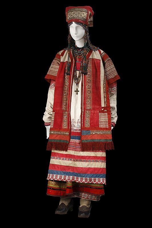 """""""le costume populaire russe"""" Русский костюм XVIII-XIX вв. Рязанская губерния."""
