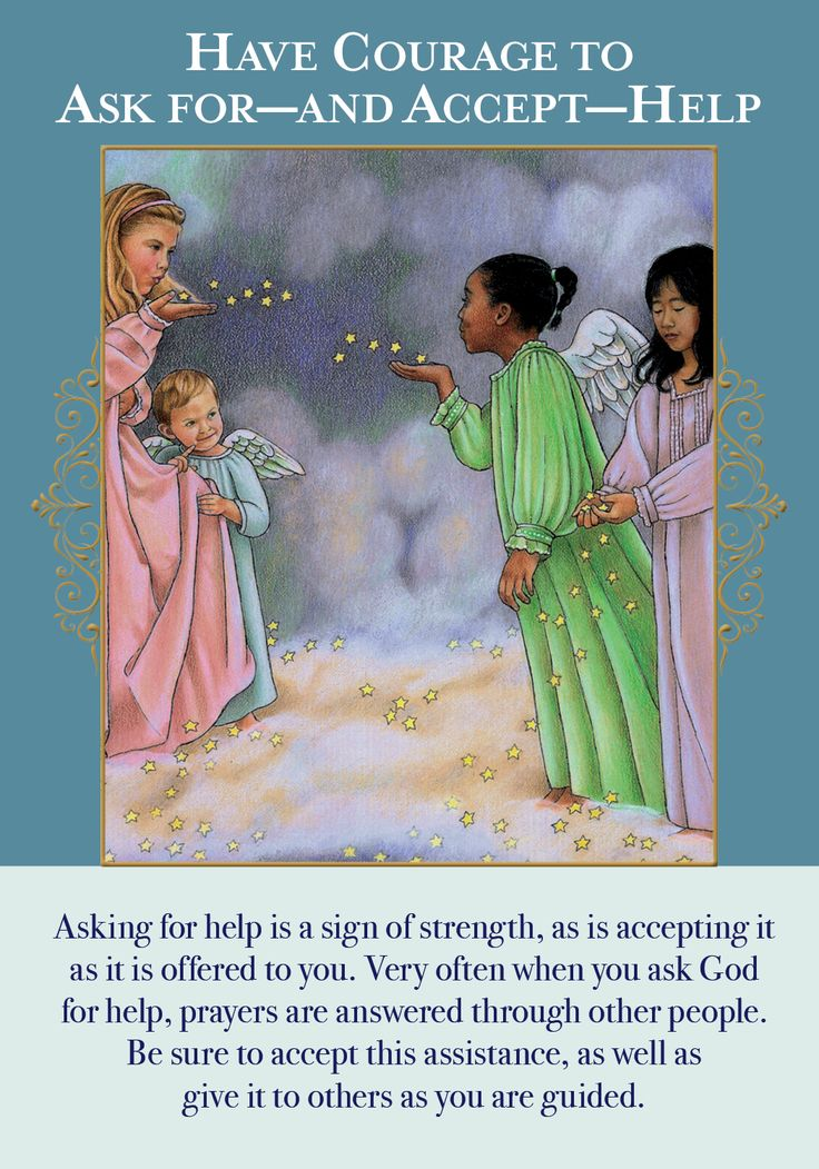 how to ask angels for help