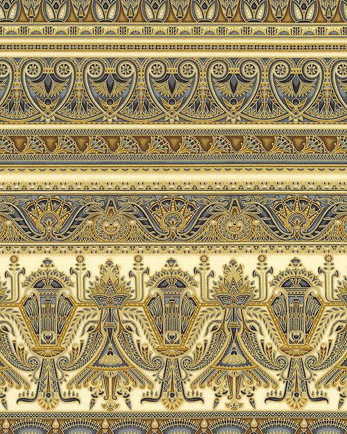 Valley of the Kings 2 - Egyptian Queen Stripe - Parchment/Gold